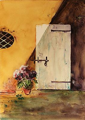 <i> Puits de lumière</i><br />aquarelle sur papier Arches, 2003, 71 x 51 cm <br />collection privée