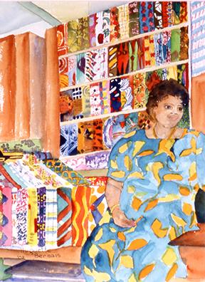 <i>Symboles et couleurs</i><br />aquarelle sur papier Arches, 2002, 37 x 28 cm <br /> collection privée