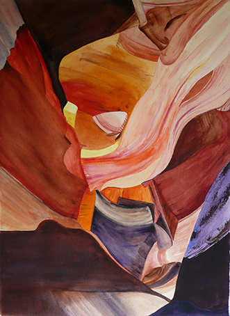 <i>Autour de Palmyre </i><br />aquarelle sur papier Arches, 2010, 76 x 56 cm<br />collection privée