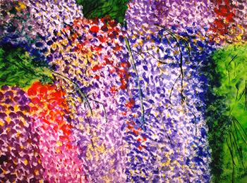 <i>Onde lumineuse</i><br />aquarelle sur papier Arches, 2000, 56 x 76 cm – collection privée