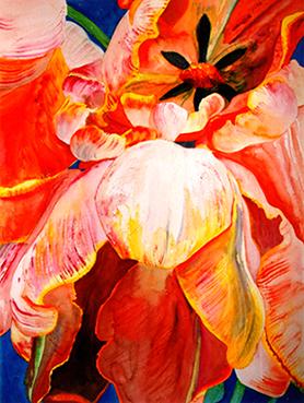 <i> Certitude</i><br />aquarelle sur papier Arches, 2000, 76 x 56 cm – collection privée