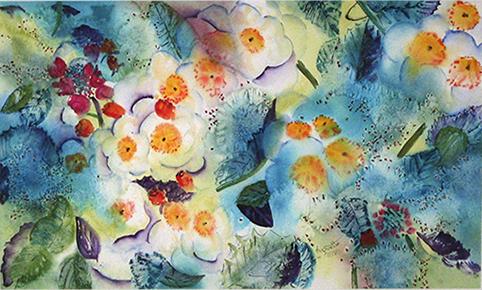 <i>Couvre-sol</i><br />aquarelle sur papier Arches, 2003, 53 x 89 cm – collection privée