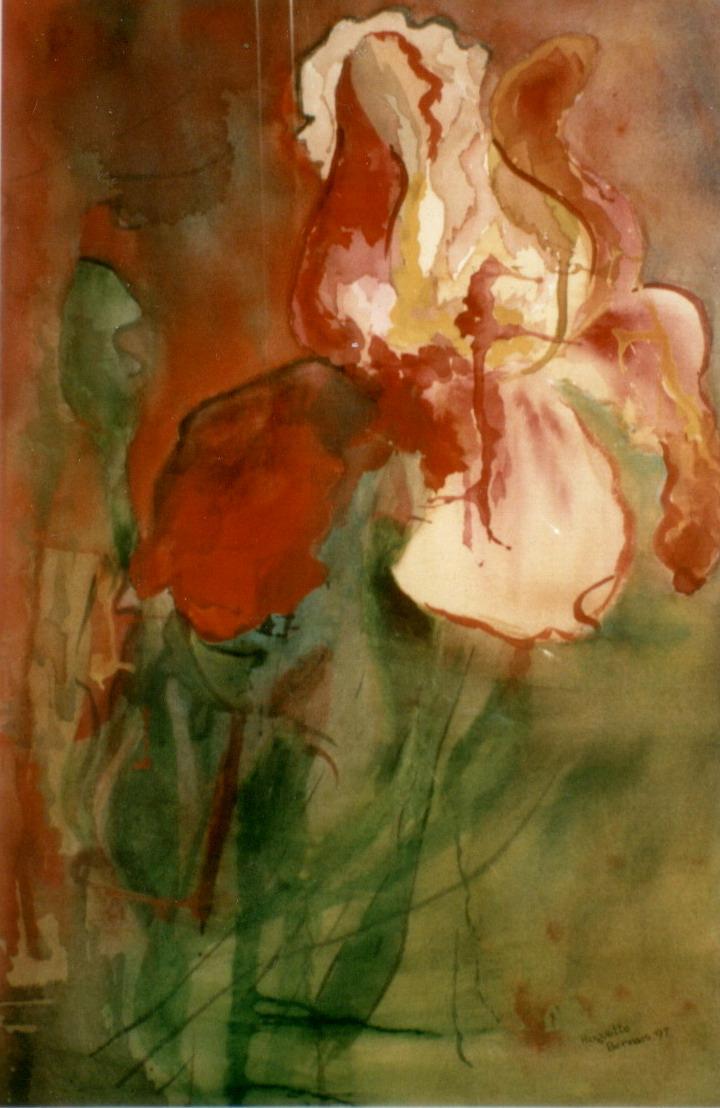 <i>Vive passion</i><br />aquarelle sur papier Arches, 1997, 53 x 36 cm – collection privée