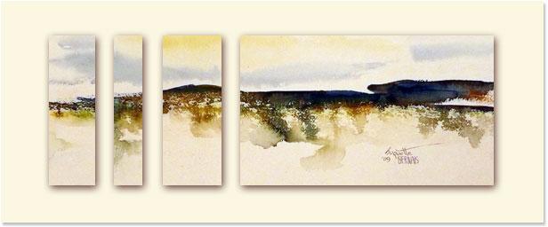 <i>Île secrète</i><br />aquarelle sur papier Arches, 2011, 19 x 56 cm – collection privée