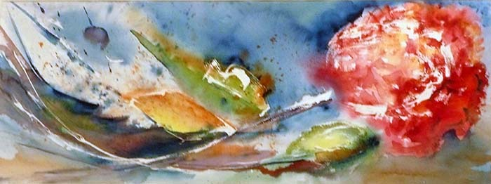 <i>Eldorado</i><br />aquarelle sur papier Arches, 2009, 28 x 75 cm – collection privée