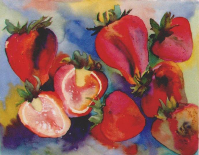<i>À cœur ouvert</i><br />aquarelle sur papier Arches, 1998, 51 x 64 cm – collection privée