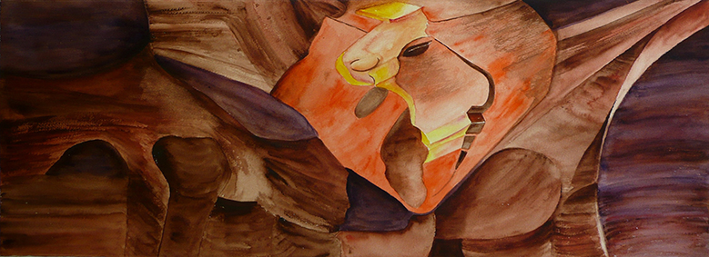 <i>Mirage</i><br />aquarelle sur papier Arches,  2010, 28 x 38 cm<br /> collection privée