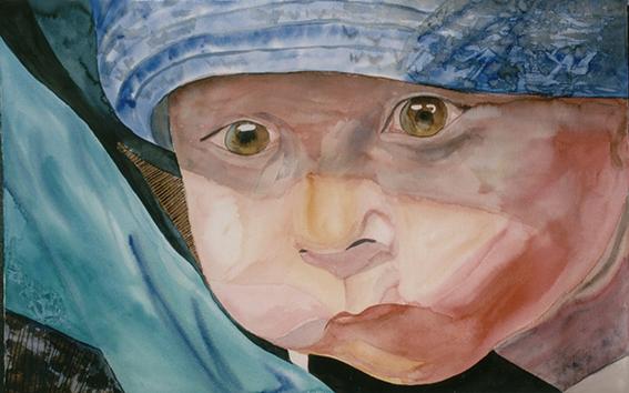 <i> Jules</i><br />aquarelle sur papier Arches, 2000, 65 x 101 cm <br />collection privée