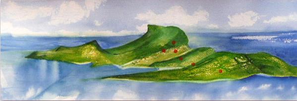 <i>Après le déluge</i><br />aquarelle sur papier Arches, 2011, 19 x 56 cm <br />